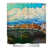 Dublin's Fairytales Around  River Liffey V4 Shower Curtain