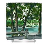 Dubois Park Lagoon Shower Curtain