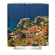 Dubrovnik Fortress From Above Shower Curtain