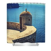 Dubrovnik Fortress Wall Tower Shower Curtain