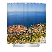 Dubrovnik From Above Panorama Shower Curtain