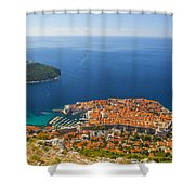 Dubrovnik Old Town From Above Shower Curtain