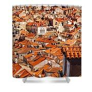 Dubrovnik Orange Old Town Rooftops Shower Curtain