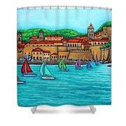 Dubrovnik Regatta Shower Curtain