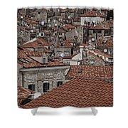 Dubrovnik Rooftops #3 Shower Curtain
