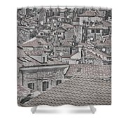 Dubrovnik Rooftops #5 Shower Curtain