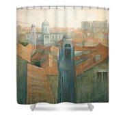 Dubrovnik Rooftops Shower Curtain