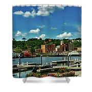 Dubuque Harbor Shower Curtain