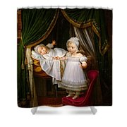 Duc De Bordeaux In His Cradle  Shower Curtain