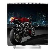 Ducati By Moonlight Shower Curtain