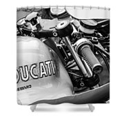 Ducati Desmo Motorcycle -2127bw Shower Curtain