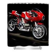 Ducati Mhe Mike Hailwood Evoluzione Shower Curtain