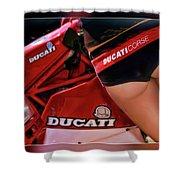 Ducati Model Shower Curtain