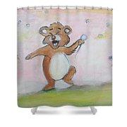 Duck, Bear,owl Shower Curtain