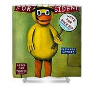 Duck Boy For President Shower Curtain