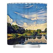 Reflections At Duck Creek Shower Curtain
