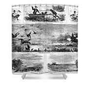 Duck Hunting, 1868 Shower Curtain