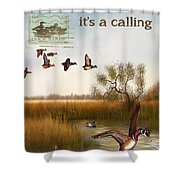 Duck Hunting-jp2783 Shower Curtain