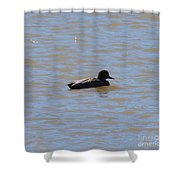 Duck On The Lake Shower Curtain