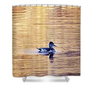 Duck Pond 3 Shower Curtain