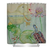 Duck Pond Shower Curtain