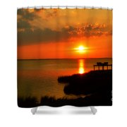 Duck Sunset Outer Banks North Carolina Shower Curtain