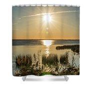 Duck Town Sunset II Shower Curtain