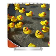 Duckies Shower Curtain