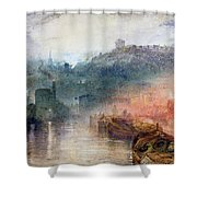 Dudley Worcester Shower Curtain by Joseph Mallord William Turner