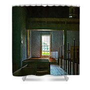 Dudley's Chapel Window - Painting Effect Shower Curtain
