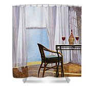 Due Rossi Al Mare Shower Curtain