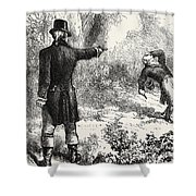 Duel Between Burr And Hamilton Shower Curtain