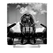 Duel Fifty Caliber Shower Curtain