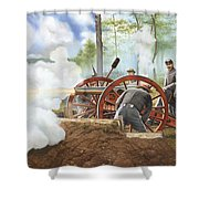 Duel Over Utoy Shower Curtain