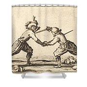 Duel With Swords Shower Curtain