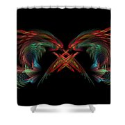 Dueling Dragons Shower Curtain