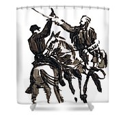 Dueling Sabres Shower Curtain