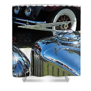 Duesenberg Hood Ornament  Shower Curtain