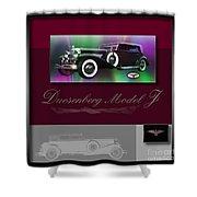 Duesenberg Model J Shower Curtain