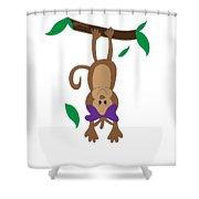 Duffworkscreative_monkeyfunlove_hangin Shower Curtain