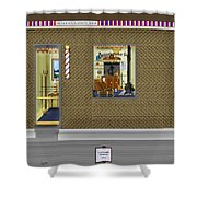 Dugger's Barber Shop Shower Curtain