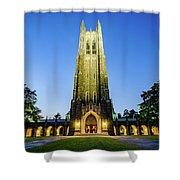 Duke Chapel At Dusk Shower Curtain