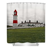 Dull Day At The Seaside. Shower Curtain