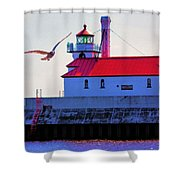 Duluth Lighthouse Shower Curtain