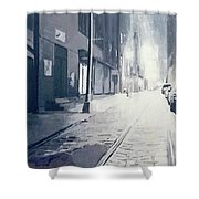 Dumbo, Brooklyn, Nyc At Night Shower Curtain