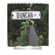 Duncan Ln Shower Curtain