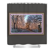 Dundalk Avenue In Winter. L A With Alt. Decorative Printed Frame. Shower Curtain