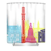 Dundee Skyline Pop Shower Curtain