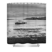 Dundrum The Old Boat Wreck Shower Curtain