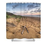 Dune Fencing Down Shower Curtain